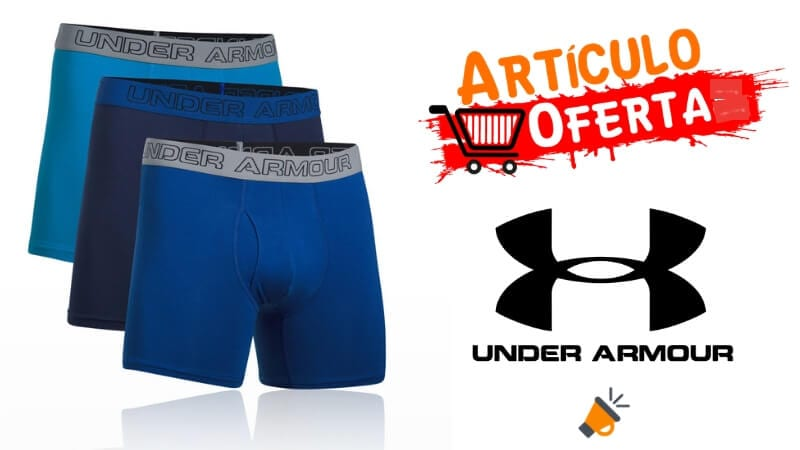 oferta Pack 3 boxers UNDER ARMOUR barato SuperChollos