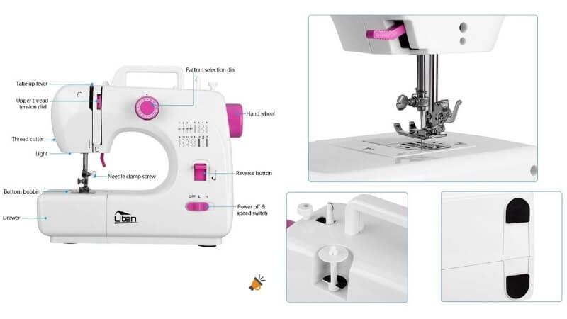 mini m%C3%A1quina de coser port%C3%A1til el%C3%A9ctrica uten barata SuperChollos