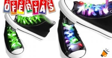 oferta Cordones con luces LED para zapatillas baratos SuperChollos