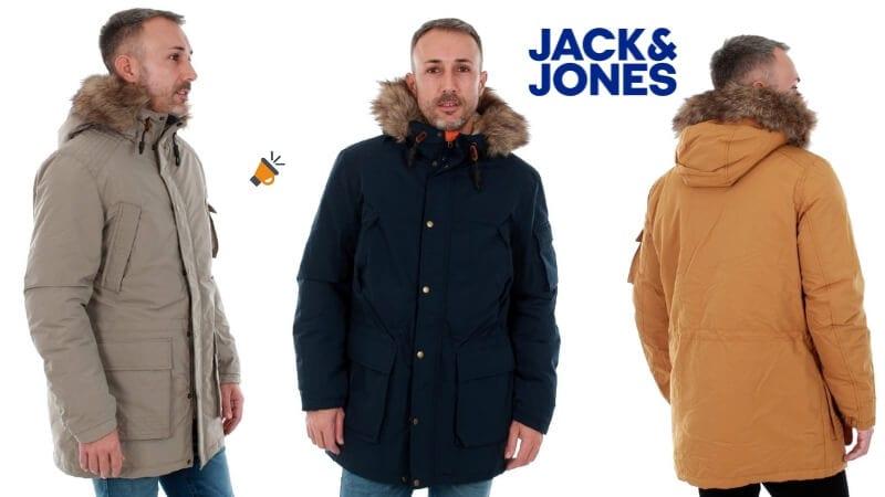 chaqueta abrigo largo plumas hombre jack jones barato SuperChollos