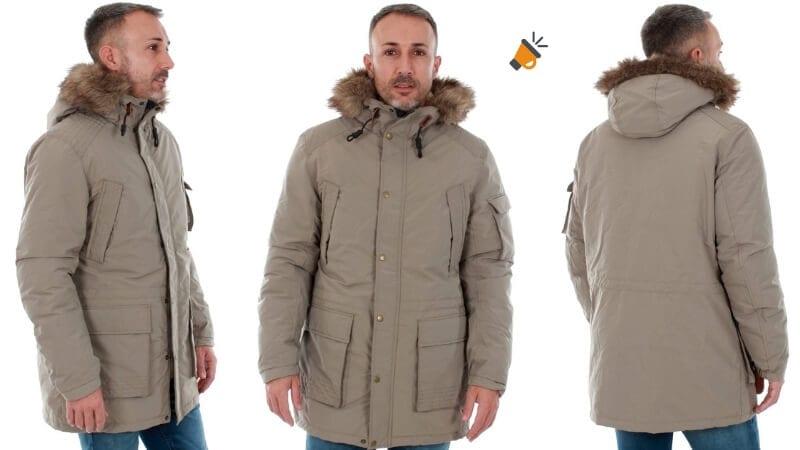 chaqueta abrigo largo plumas hombre jack jones pelo barato SuperChollos