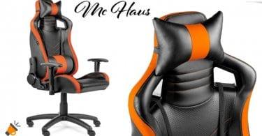 oferta silla de oficina McHaus Gaming Pro barata SuperChollos