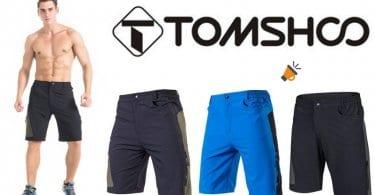pantalon corto deporte ciclismo hombre negro azul tomshoo barato SuperChollos