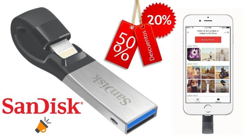 oferta Memoria Flash USB SanDisk iXpand barata SuperChollos