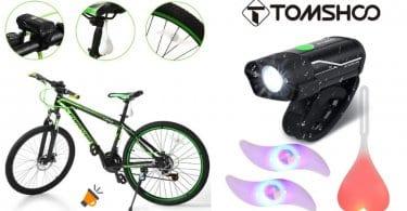 oferta TOMSHOO Luces Bicicleta baratas SuperChollos