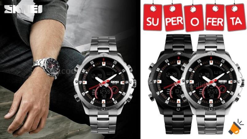 oferta reloj analogico digital skmei barato SuperChollos