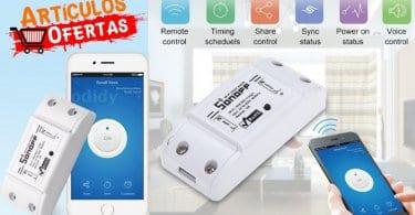 oferta Interruptor WiFi Sonoff para corriente AC barato SuperChollos