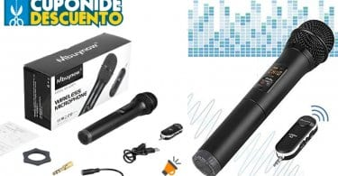 OFERTA Micro%CC%81fono Inala%CC%81mbrico UHF Mbuynow BARATO SuperChollos
