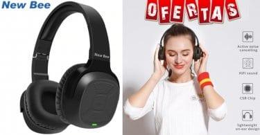 oferta New BEE Auriculares Bluetooth baratos SuperChollos