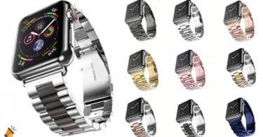 oferta Correa de acero inoxidable para Apple Watch barata SuperChollos