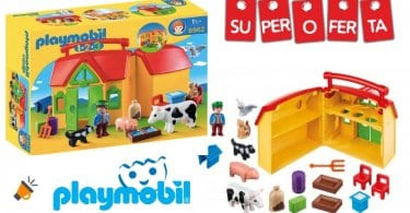 oferta Playmobil 1.2.3 1.2.3 Mi Primera Granja barata SuperChollos