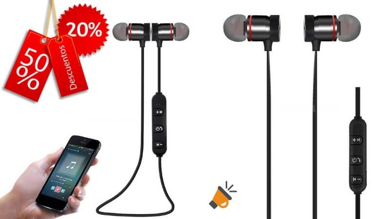 OFERTA Auriculares Bluetooth Deportivos BARATOS SuperChollos