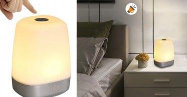 despertador de luz t%C3%A1ctil tomshine recargable barato SuperChollos