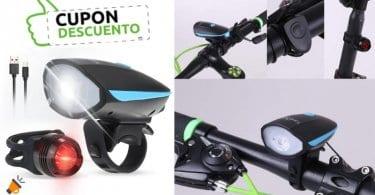 oferta Tomshine Luz Bicicleta LED USB barata SuperChollos