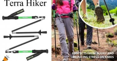 oferta Basto%CC%81n de Trekking Plegable Terra Hiker barato SuperChollos