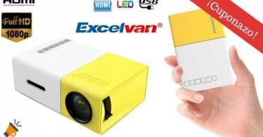 oferta Mini Proyector Excelvan Home 1080P barato SuperChollos