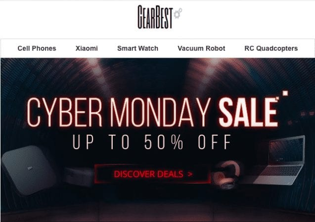 Gearbest Cyber Monday 2018 ofertas SuperChollos
