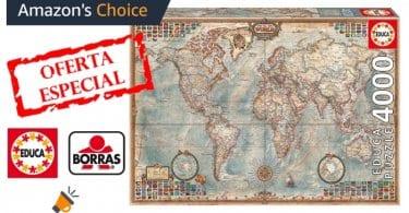 oferta puzzle 4000 piezas El Mundo Mapa Politico barato SuperChollos