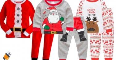OFERTA Pijamas infantiles con motivos naviden%CC%83os BARATOS SuperChollos