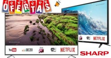 ofertas televisiones sharp baratas SuperChollos