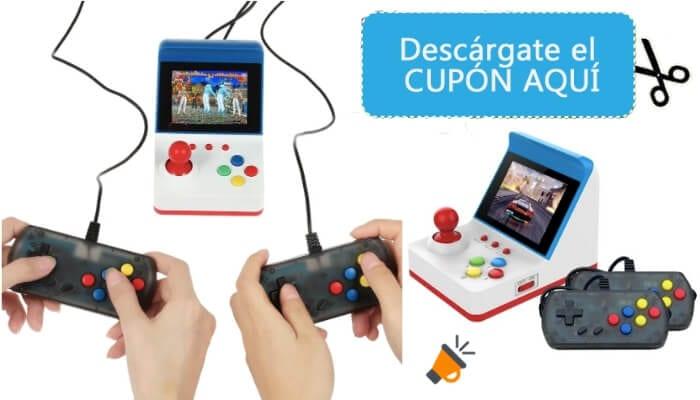 oferta Consola de juegos retro en miniatura barata SuperChollos