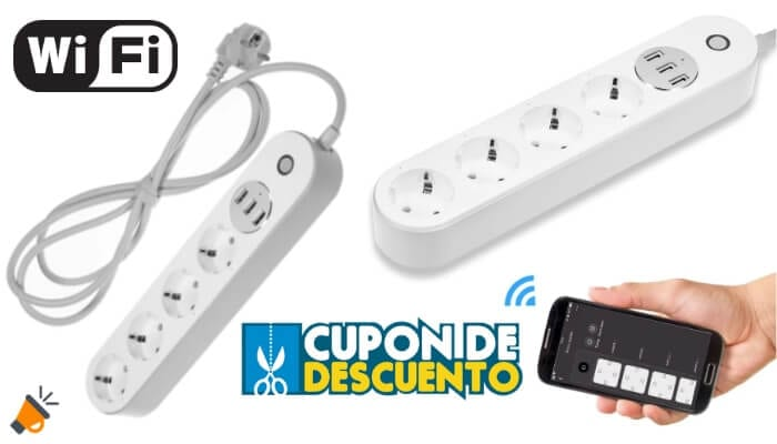 oferta Regleta 4 enchufes inteligente con WiFi barata SuperChollos