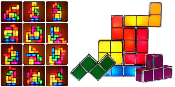 lampara led tipo tetris personalizable ajustable barata SuperChollos