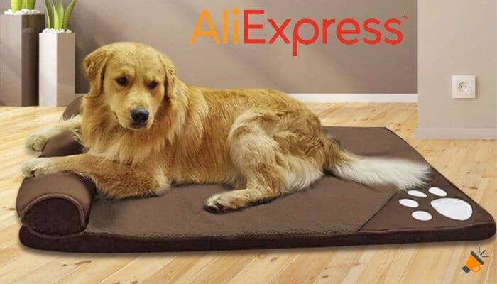 oferta Cama acolchada con almohada para perros barata SuperChollos