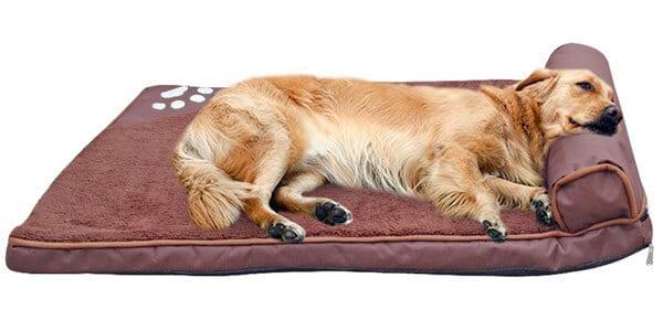 cama mascotas almohadon perros grandes marron azul chollo SuperChollos
