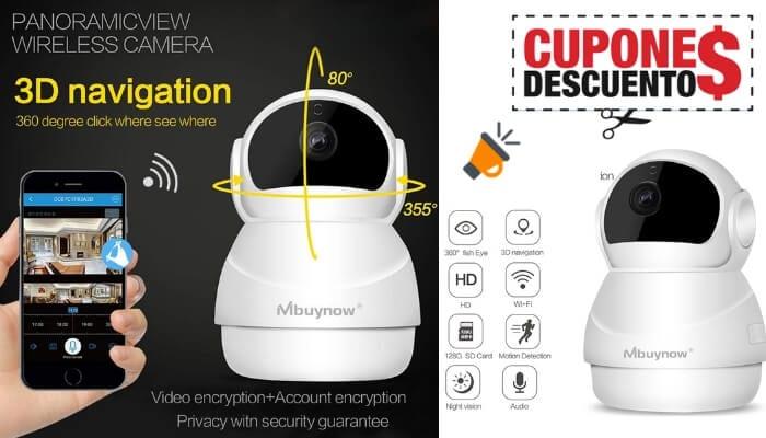 oferta Ca%CC%81mara IP WiFi Mbuynow Ca%CC%81mara de Vigilancia barata SuperChollos
