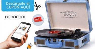 oferta dodocool Tocadiscos Bluetooth barato SuperChollos