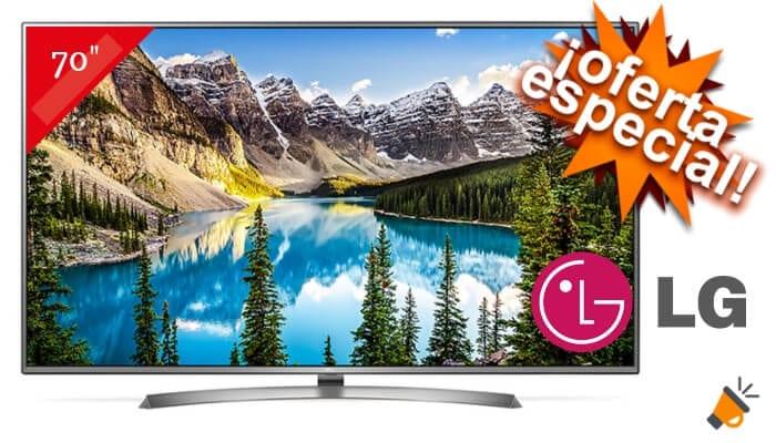 oferta LG 70UJ675V smart tv barata SuperChollos