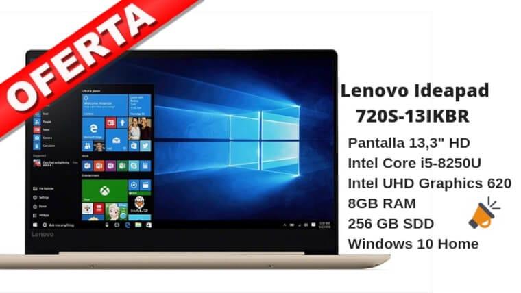oferta Lenovo Ideapad 720S 13IKBR portatil barato SuperChollos