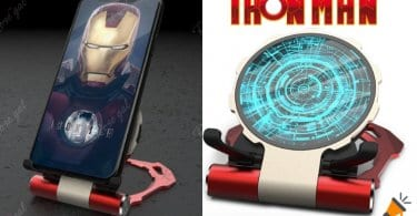 oferta Cargador inala%CC%81mbrico Qi iron man barato SuperChollos