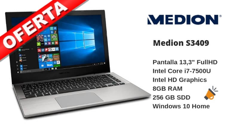 oferta Medion S3409 Ordenador porta%CC%81til barato SuperChollos
