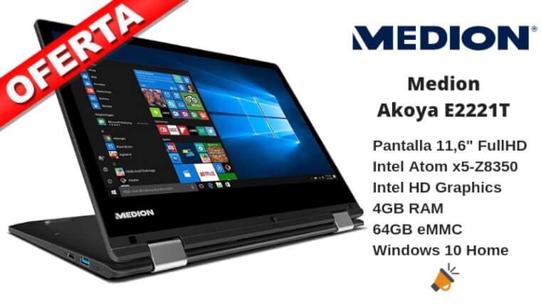 oferta Medion Akoya E2221T convertible barato SuperChollos
