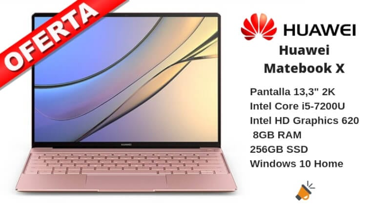 oferta Huawei Matebook X Ordenador porta%CC%81til barato SuperChollos