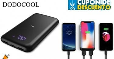 oferta dodocool 10000mAh Bateri%CC%81a Externa barata SuperChollos