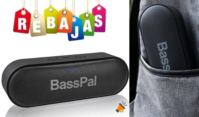 oferta Altavoz Porta%CC%81til Bluetooth BassPal barato SuperChollos