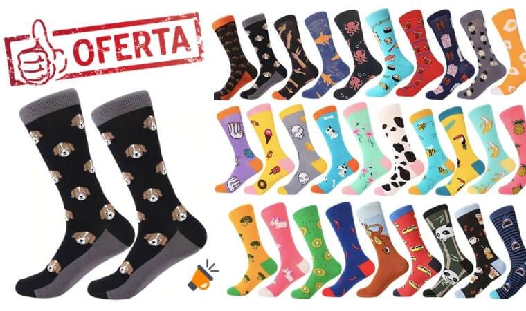 oferta Seleccio%CC%81n de calcetines altos baratos SuperChollos