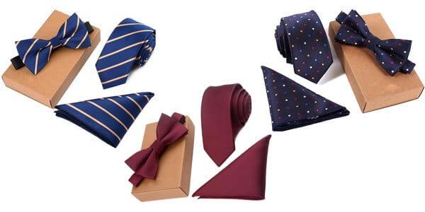 Conjunto de corbata pajarita y pan%CC%83uelo SuperChollos