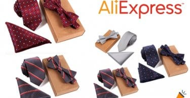 oferta Conjunto de corbata pajarita y pan%CC%83uelo barato SuperChollos