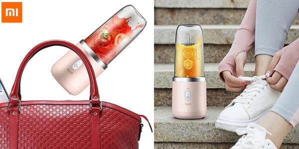 exprimidor licuadora inalambrico portatil vaso 400ml bateria recargable zumo deerma xiaomi barato banggood SuperChollos