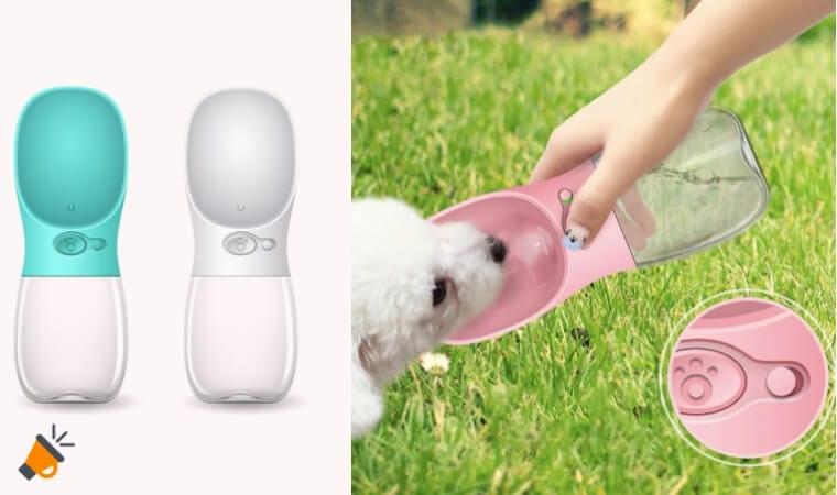 oferta Botella porta%CC%81til de agua para mascotas barata SuperChollos