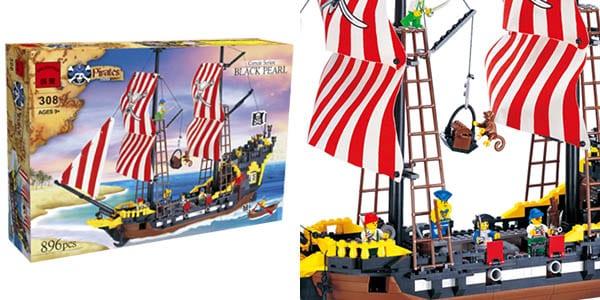 Barco pirata estilo LEGO barato SuperChollos