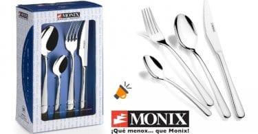 oferta Set de 24 Cubiertos Monix Pisa barato SuperChollos