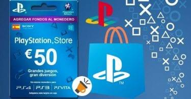 Tarjeta prepago PlayStation PSN Store de 50%E2%82%AC barata SuperChollos