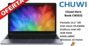 oferta Chuwi Hero Book CWI532 barato SuperChollos