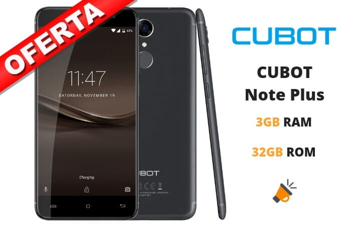 oferta CUBOT Note Plus barato SuperChollos
