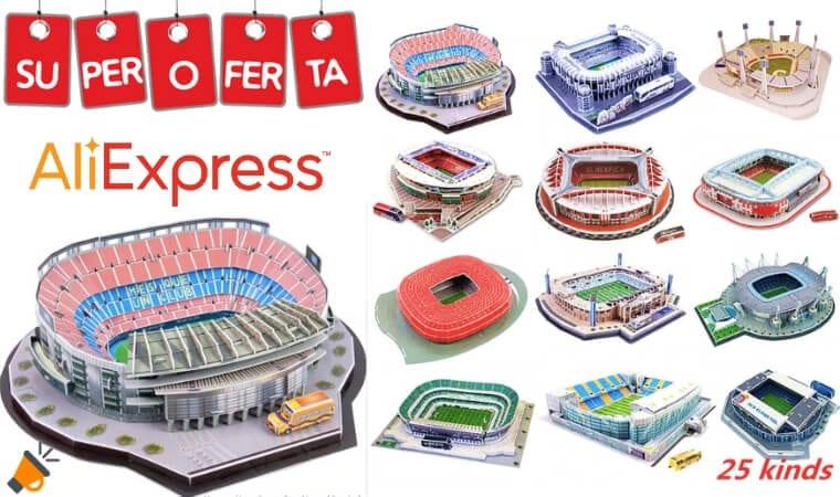 oferta Puzzles 3D de estadios de fu%CC%81tbol barato SuperChollos